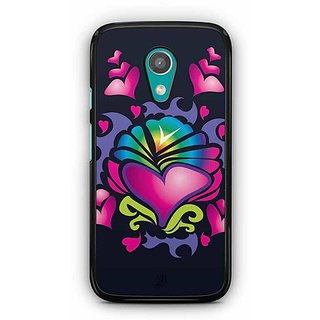 YuBingo Hearts Designer Mobile Case Back Cover for Motorola G2
