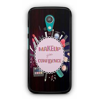 YuBingo Make Up Your Confidence Designer Mobile Case Back Cover for Motorola G2