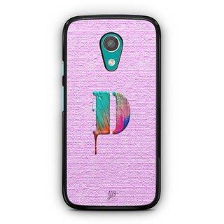 YuBingo Monogram with Beautifully Written Paint Finish letter D Designer Mobile Case Back Cover for Motorola G2