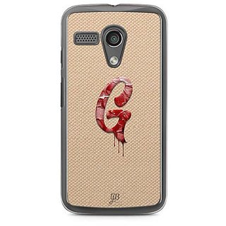 YuBingo Monogram with Beautifully Written Paint Finish letter G Designer Mobile Case Back Cover for Motorola G