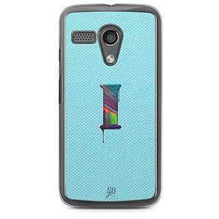 YuBingo Monogram with Beautifully Written Paint Finish letter I Designer Mobile Case Back Cover for Motorola G