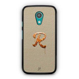 YuBingo Monogram with Beautifully Written Paint Finish letter R Designer Mobile Case Back Cover for Motorola G2