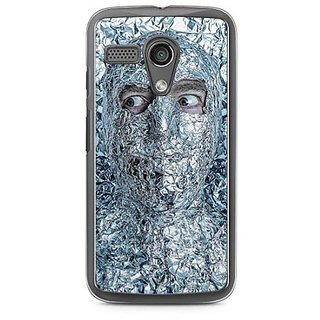 YuBingo Man covered with Aluminium Foil Designer Mobile Case Back Cover for Motorola G