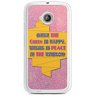 YuBingo Hearts Designer Mobile Case Back Cover for Motorola E2