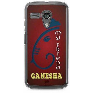 YuBingo My Friend Ganesha Designer Mobile Case Back Cover for Motorola G