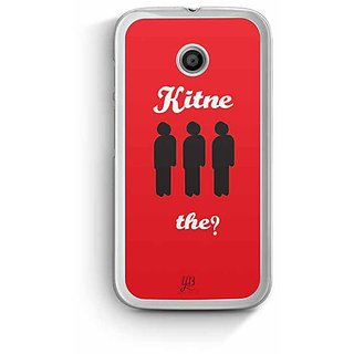 YuBingo Kitne Aadmi The? Designer Mobile Case Back Cover for Motorola E