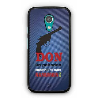 YuBingo Don ko Pakadna Mushkil hi Nahin Namumkin Hai Designer Mobile Case Back Cover for Motorola G2