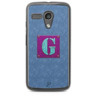 YuBingo Monogram with Beautifully Written Jeans and Girly Leather Finish letter G Designer Mobile Case Back Cover for Motorola G