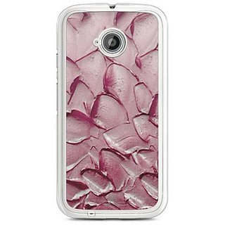 YuBingo Oil Paint Petals Designer Mobile Case Back Cover for Motorola E2