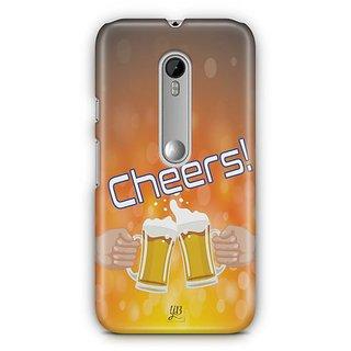 YuBingo Cheers with Friends Designer Mobile Case Back Cover for Motorola G3 / G3 Turbo
