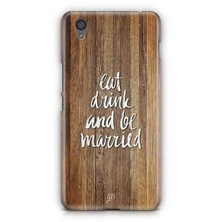 YuBingo Eat, Drink and be Married Designer Mobile Case Back Cover for OnePlus X