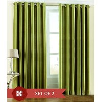 Furnix Plain Eyelet Door Curtain D.No. 1032-2 Pc