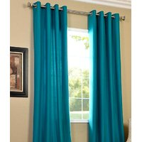 Furnix Plain Eyelet Firozi Door Curtain D.No. 1052-1Pc