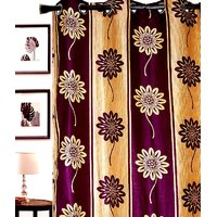 Furnix Printed Eyelet Door Curtain D.No. 3001-1Pc