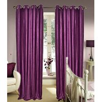 Furnix Plain Eyelet Door Curtain D.No. 1026-1Pc