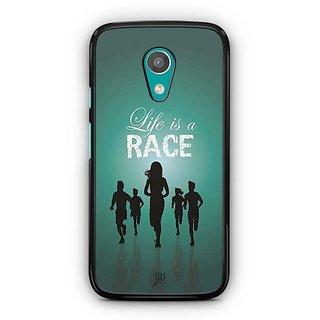 YuBingo Life is a Race Designer Mobile Case Back Cover for Motorola G2