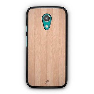 YuBingo Wood Finish (Plastic) Designer Mobile Case Back Cover for Motorola G2