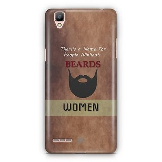 YuBingo Beard Designer Mobile Case Back Cover for Oppo F1 / A35