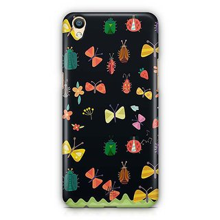 YuBingo Flowers and insects pattern Designer Mobile Case Back Cover for Oppo F1 Plus / R9