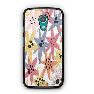 YuBingo Colourful flowers Designer Mobile Case Back Cover for Motorola G2