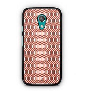 YuBingo Red hexagon pattern Designer Mobile Case Back Cover for Motorola G2