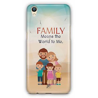 YuBingo Family Means the World To Me Designer Mobile Case Back Cover for Oppo F1 Plus / R9