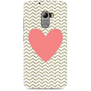 CopyCatz Chevron Heart Premium Printed Case For Lenovo K4 Note