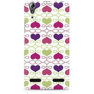 CopyCatz Heart Pattern Premium Printed Case For Lenovo A6000