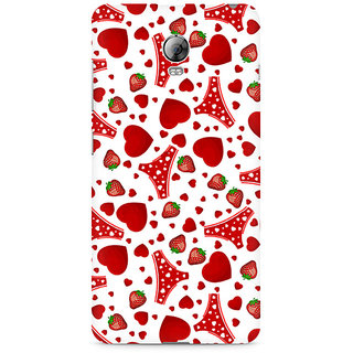 CopyCatz Panties and Strawberry Premium Printed Case For Lenovo Vibe P1