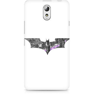 CopyCatz Bat Logo Arkham City Premium Printed Case For Lenovo Vibe P1M