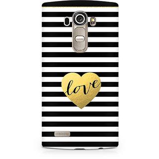 CopyCatz Black And White Gold Love Premium Printed Case For LG G4