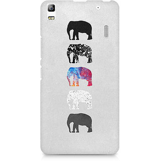 CopyCatz Five Shades of Elephants Premium Printed Case For Lenovo A7000