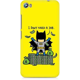 CopyCatz Batman Needs No Job Premium Printed Case For Micromax Canvas Fire 4 A107