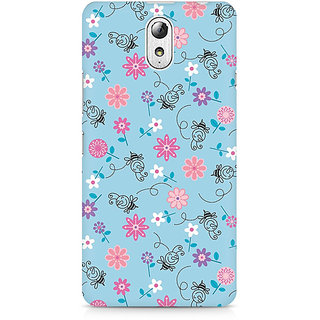 CopyCatz Floral Girly Wall Premium Printed Case For Lenovo Vibe P1M