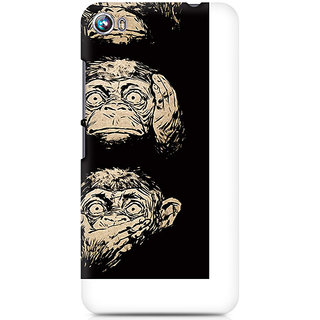CopyCatz Three Wise Monkeys Premium Printed Case For Micromax Canvas Fire 4 A107
