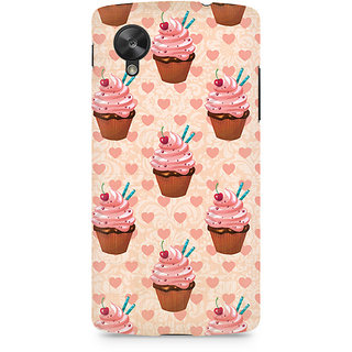 CopyCatz Stawberry Cupcakes Premium Printed Case For LG Nexus 5