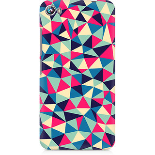 CopyCatz Colorful Triangles Premium Printed Case For Micromax Canvas Fire 4 A107