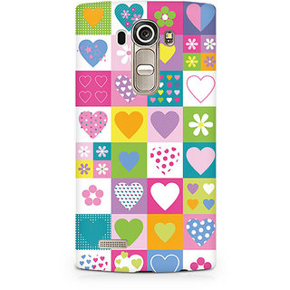 CopyCatz Abstract Hearts Premium Printed Case For LG G4