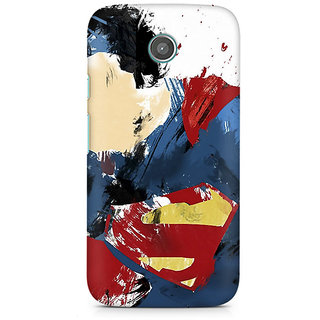 CopyCatz Superman Abstract Premium Printed Case For Moto E