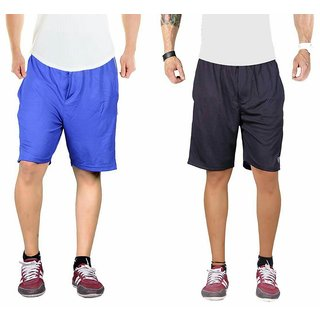 Blue and blue sports shorts pack of 2