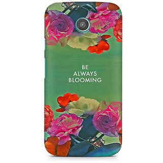 CopyCatz Be Always Blooming Premium Printed Case For Moto E