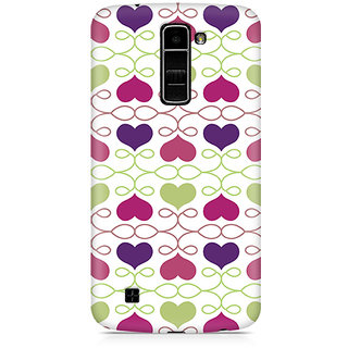CopyCatz Heart Pattern Premium Printed Case For LG K10