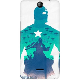 CopyCatz Captain America Minimalist Premium Printed Case For Micromax Canvas Juice 3 Q392