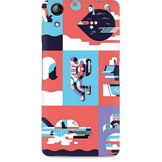 CopyCatz Abstract Travel Premium Printed Case For Micromax Canvas Selfie 2 Q340