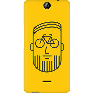 CopyCatz BikeFace Premium Printed Case For Micromax Canvas Juice 3 Q392