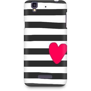 CopyCatz Cute Heart On Zebra Print Premium Printed Case For Micromax YU Yureka A05510