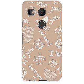 CopyCatz I Love You Premium Printed Case For LG Nexus 5X