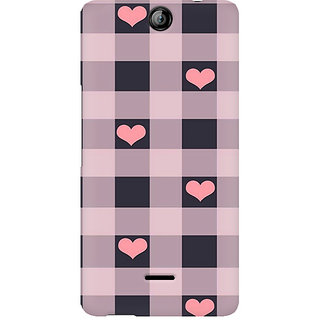 CopyCatz Checksy Hearts Premium Printed Case For Micromax Canvas Juice 3 Q392