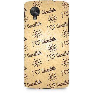 CopyCatz I love Chocolate Premium Printed Case For LG Nexus 5