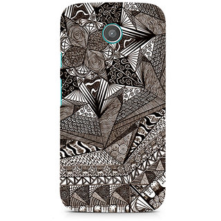 CopyCatz Geometric Abstract Doodle Premium Printed Case For Moto E